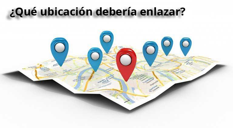 mapa con marcadores de búsqueda local. El mejor enlace para sitios con múltiples ubicaciones