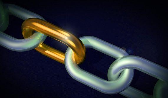 Eslabones de cadena representando un buen enlazado para el usuario