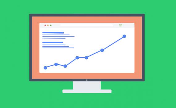 dibujo de un gráfico en alza. Creando el post perfecto puedes aumentar tu ranking en los motores de búsqueda.