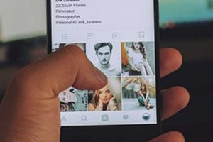 imágenes en un dispositivo móvil.