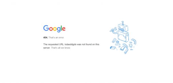mensaje de error de google para una página no encontrada. Error 404. Usa redirecciónes 301 para redirigir estas páginas.